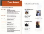 Event Schedule and Community Churches, 2017 Brochure, North End Super Reunion by Center for Folklore Studies and Ohio Field School, Ohio State University